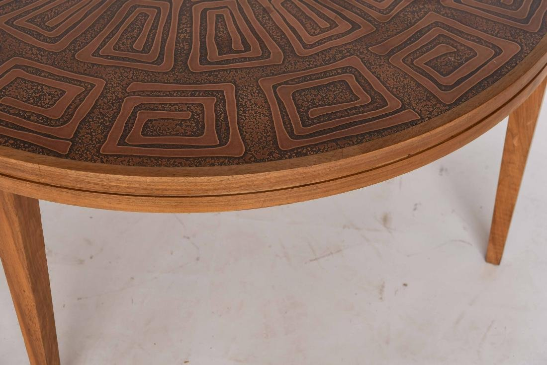 HASLEV COPPER TOPPED COFFEE TABLE DENMARK - 4