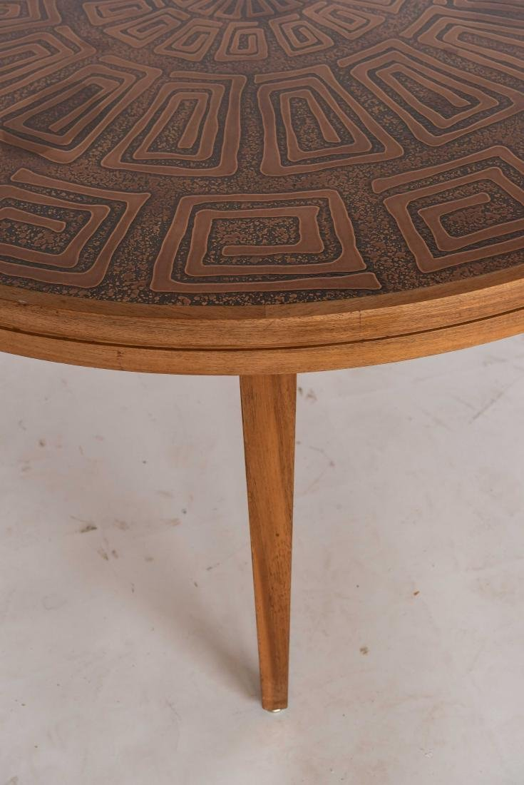 HASLEV COPPER TOPPED COFFEE TABLE DENMARK - 5