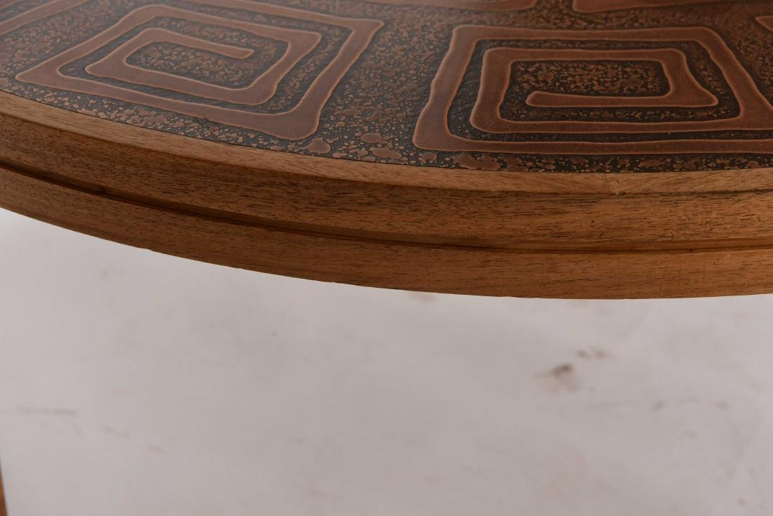 HASLEV COPPER TOPPED COFFEE TABLE DENMARK - 6