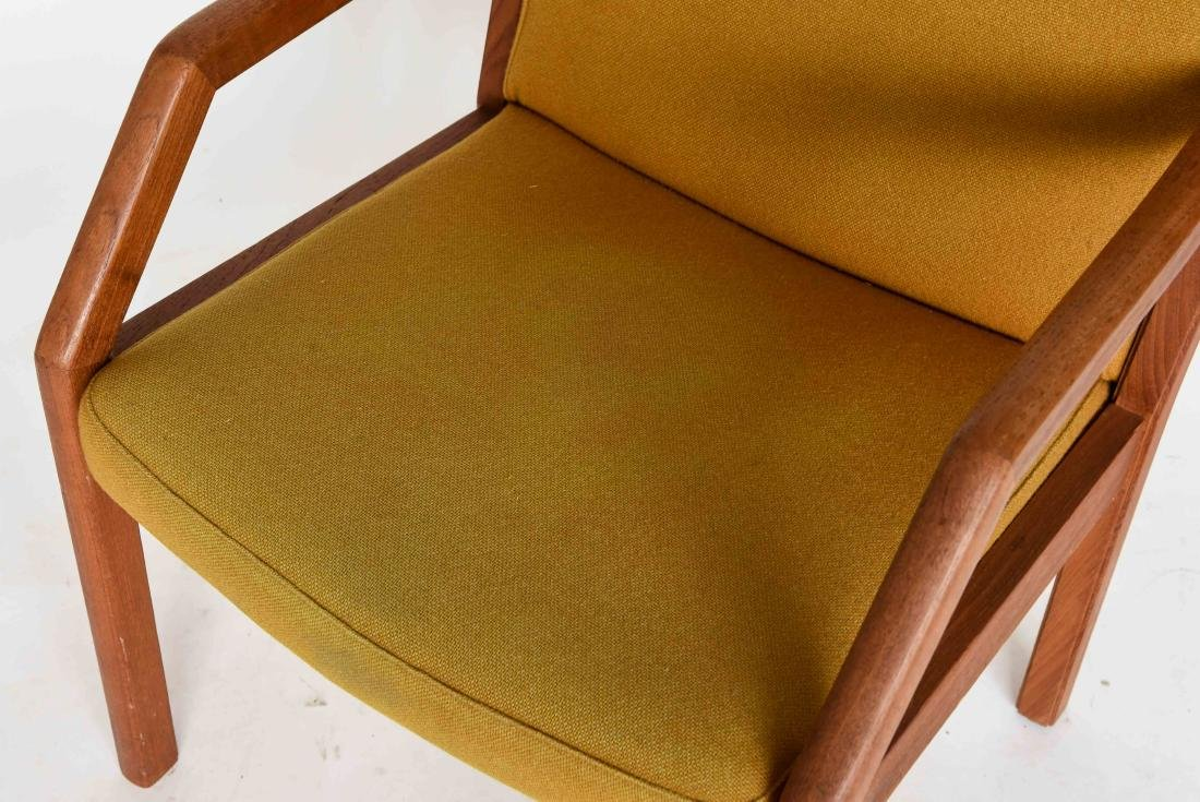 TEAK ARM CHAIR WITH ORIGINAL WOOL UPHOLSTERY - 2