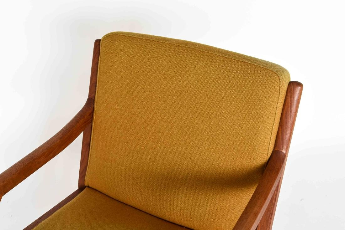 TEAK ARM CHAIR WITH ORIGINAL WOOL UPHOLSTERY - 3