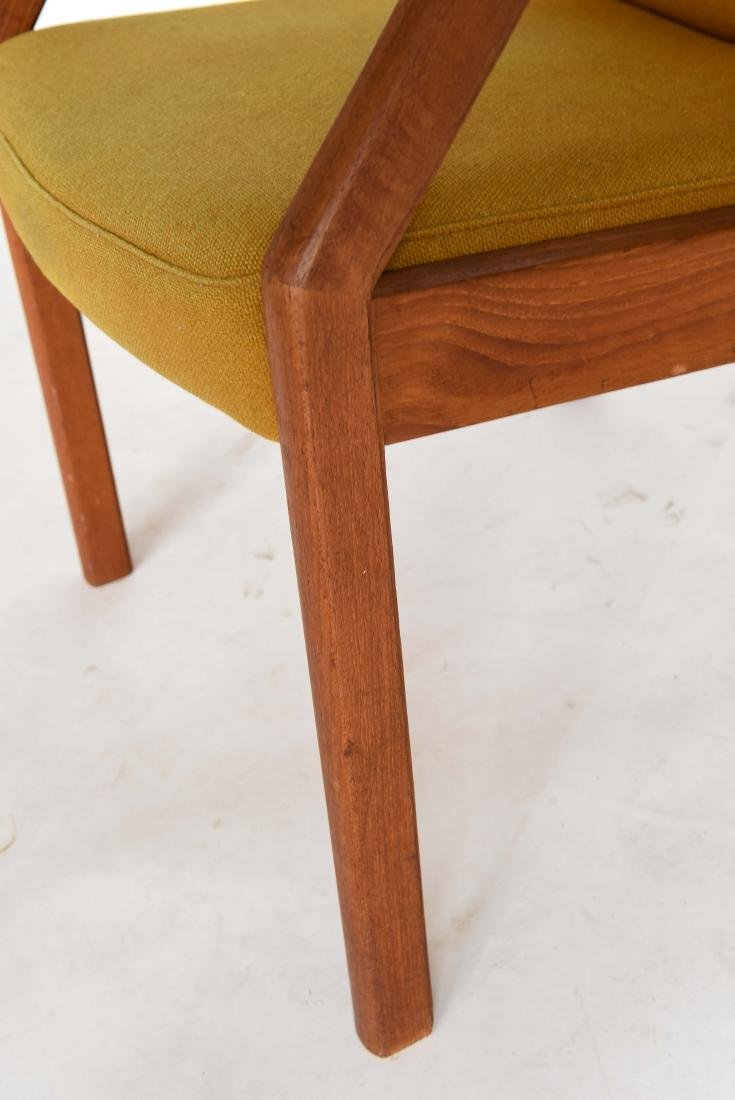 TEAK ARM CHAIR WITH ORIGINAL WOOL UPHOLSTERY - 5