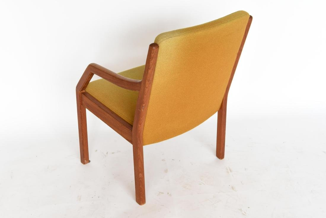 TEAK ARM CHAIR WITH ORIGINAL WOOL UPHOLSTERY - 6