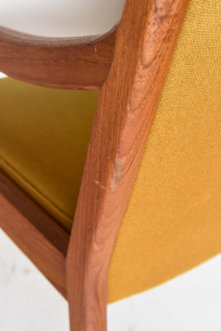 TEAK ARM CHAIR WITH ORIGINAL WOOL UPHOLSTERY - 7