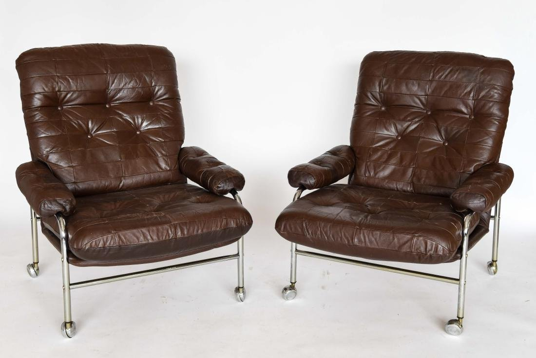 PAIR OF ULFERTS FURNITURE EASY CHAIRS C.1960'S
