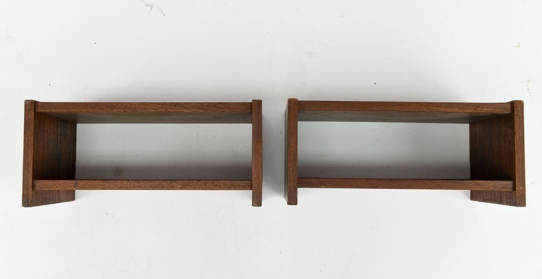 PAIR OF DANISH TEAK FLOATING SHELVES