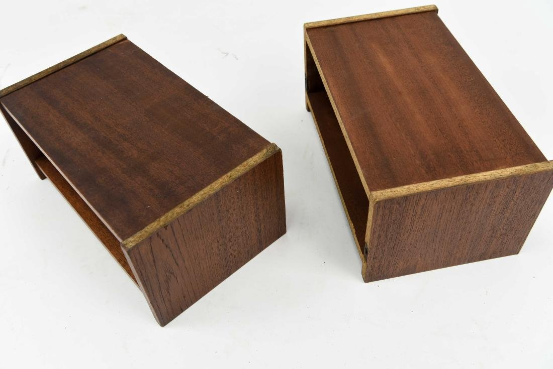 PAIR OF DANISH TEAK FLOATING SHELVES - 4