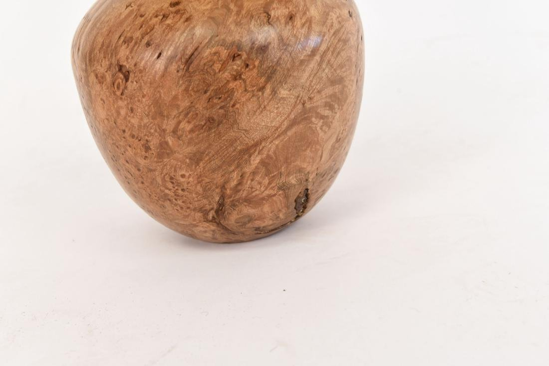 ROD CRONKITE MAPLE BURL WOOD VASE - 6