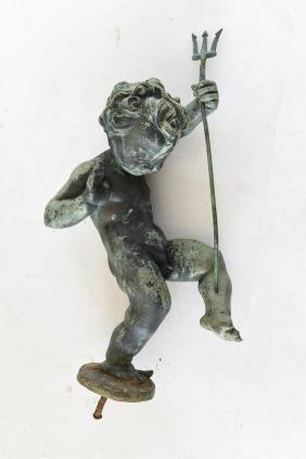 Bronze Putti Fountain Sculpture