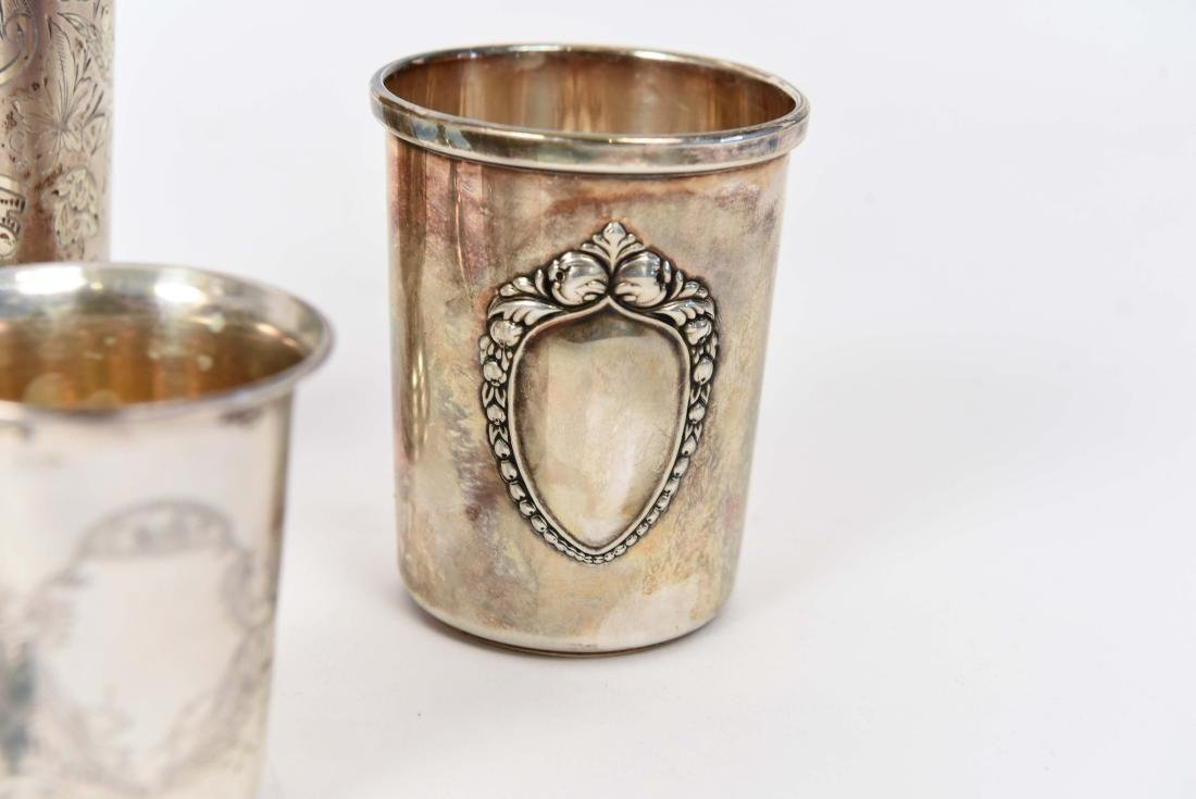 SILVER KIDDISH CUPS AND MEZUZAH JUDAICA GROUPING - 3