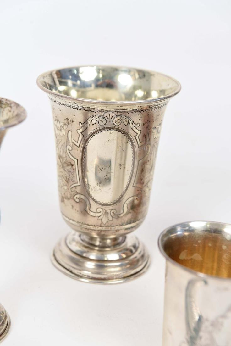 SILVER KIDDISH CUPS AND MEZUZAH JUDAICA GROUPING - 4