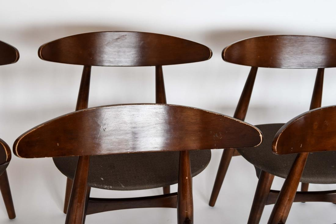 (8) MID-CENTURY DANISH STYLE DINING CHAIRS - 4