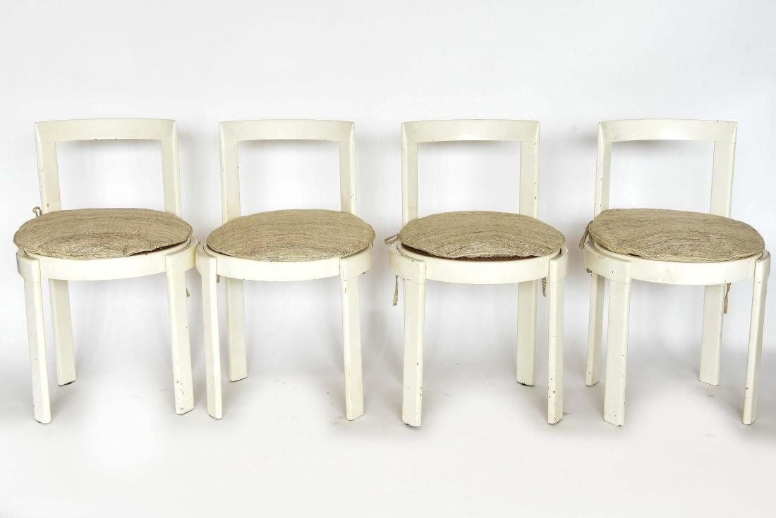 (4) ITALIAN MID-CENTURY CANE SEAT CHAIRS