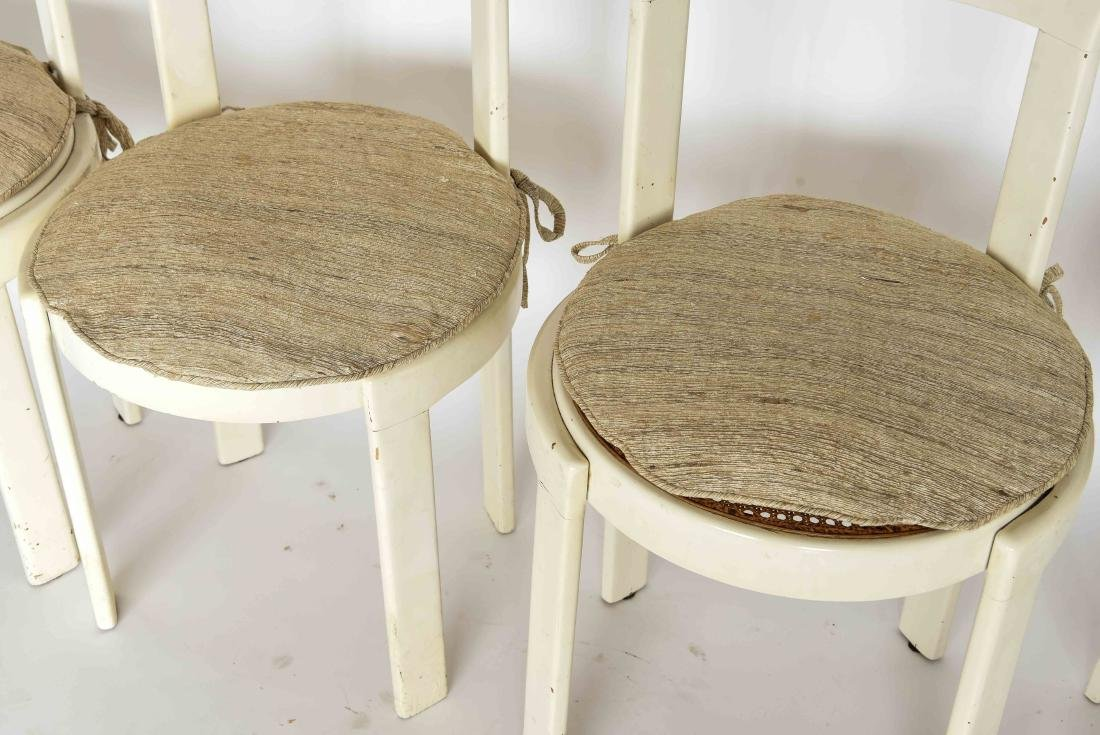 (4) ITALIAN MID-CENTURY CANE SEAT CHAIRS - 3
