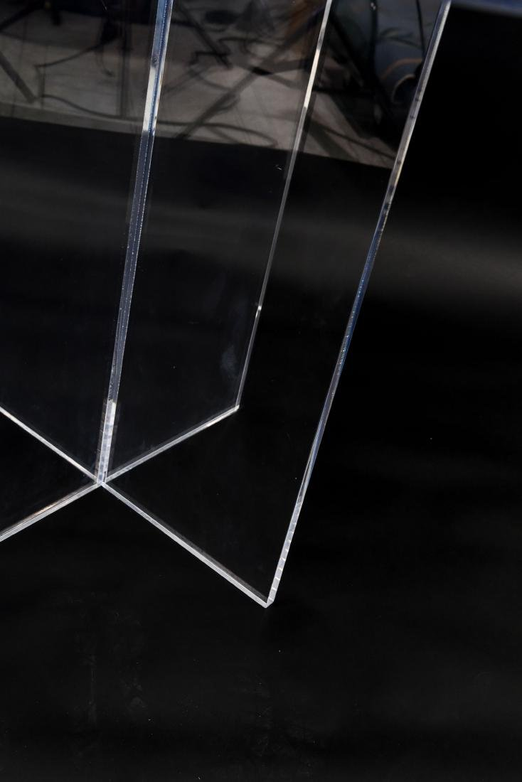 LUCITE TABLE - 7