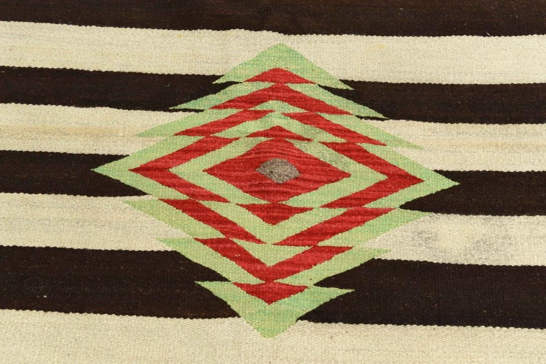 STRIPED NATIVE AMERICAN THROW RUG - 2
