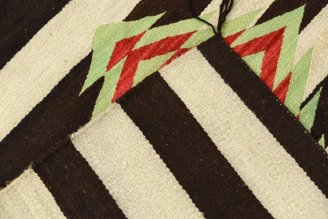 STRIPED NATIVE AMERICAN THROW RUG - 7