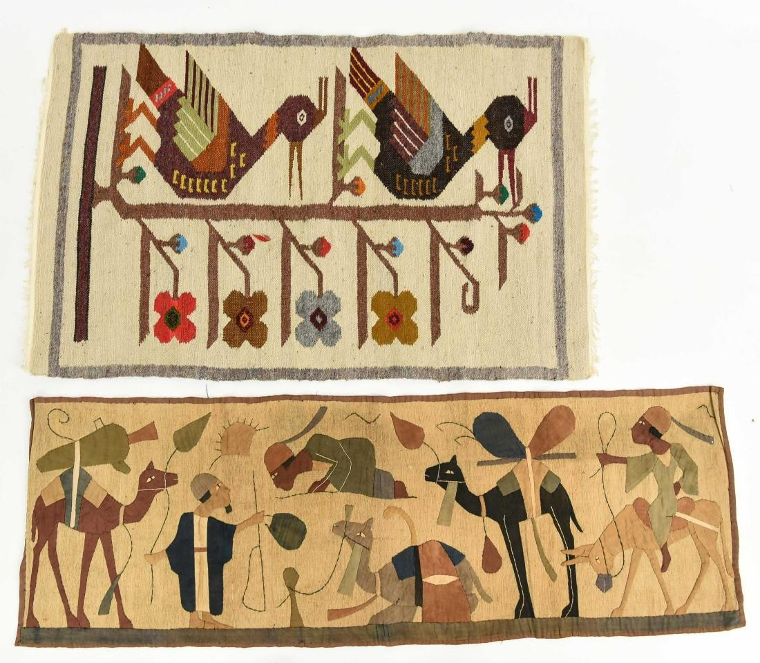(2) WOOL RUGS EGYPTIAN & SOUTH AMERICAN
