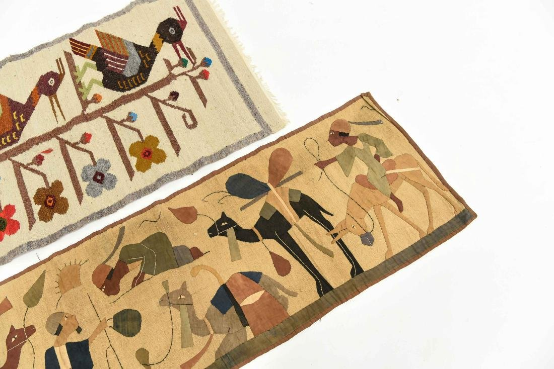(2) WOOL RUGS EGYPTIAN & SOUTH AMERICAN - 2