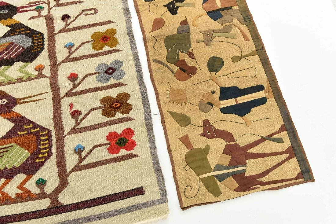 (2) WOOL RUGS EGYPTIAN & SOUTH AMERICAN - 5