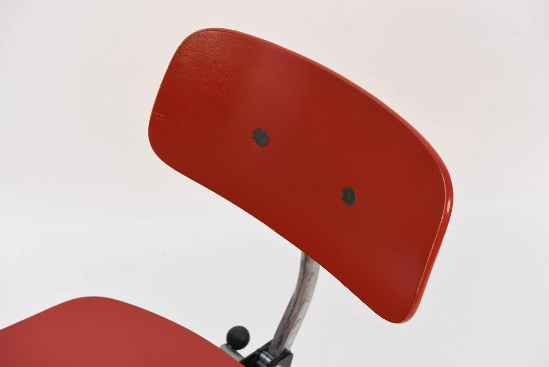 RED KEVI OFFICE CHAIR - 3