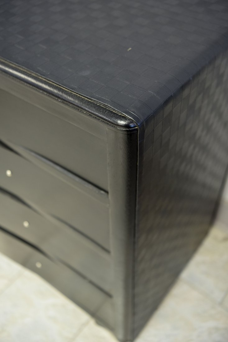 WOVEN LEATHER WRAPPED CHEST OF DRAWERS - 4