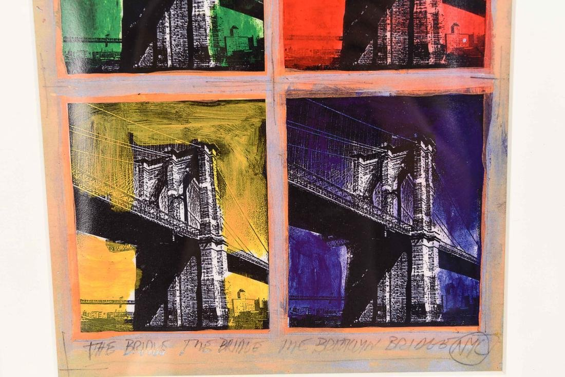 "SIGNED PRINT ""BROOKLYN BRIDGE"" - 3"