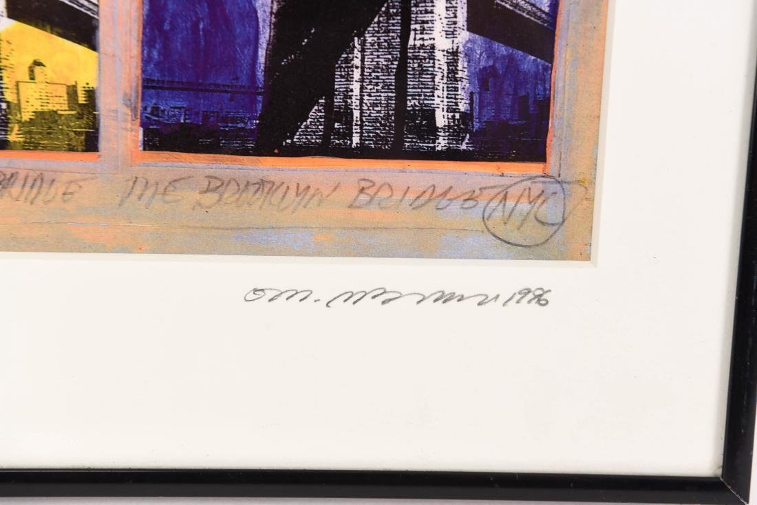 "SIGNED PRINT ""BROOKLYN BRIDGE"" - 4"