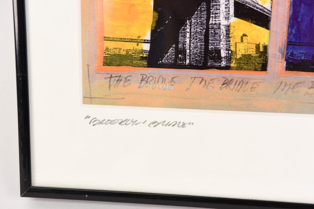 "SIGNED PRINT ""BROOKLYN BRIDGE"" - 5"