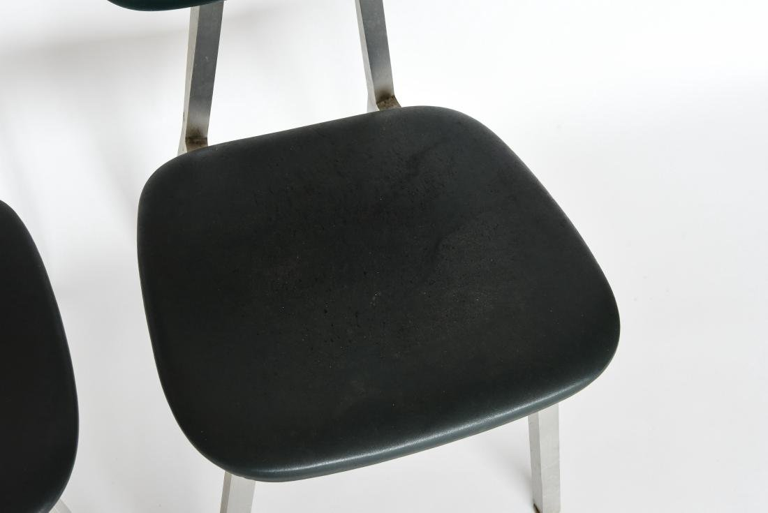 PAIR OF SHAW WALKER ALUMINUM AND LEATHER CHAIRS - 2