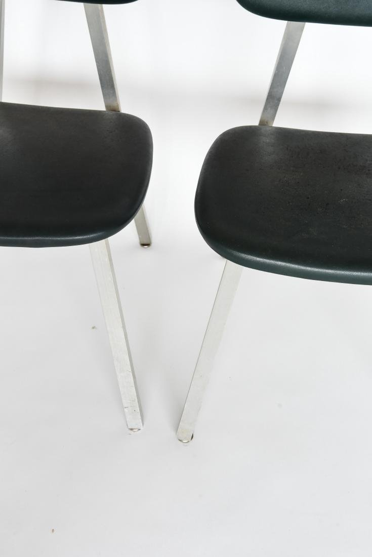 PAIR OF SHAW WALKER ALUMINUM AND LEATHER CHAIRS - 4