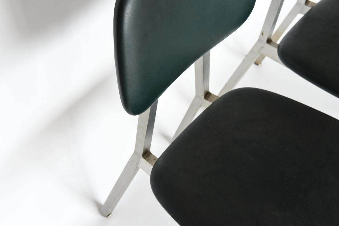 PAIR OF SHAW WALKER ALUMINUM AND LEATHER CHAIRS - 5