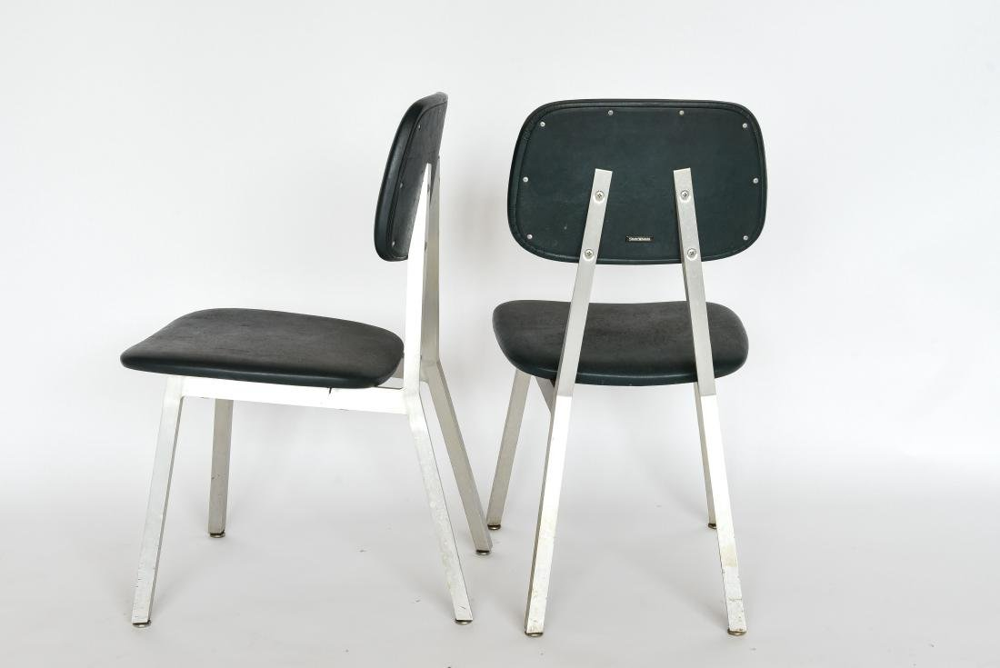 PAIR OF SHAW WALKER ALUMINUM AND LEATHER CHAIRS - 7