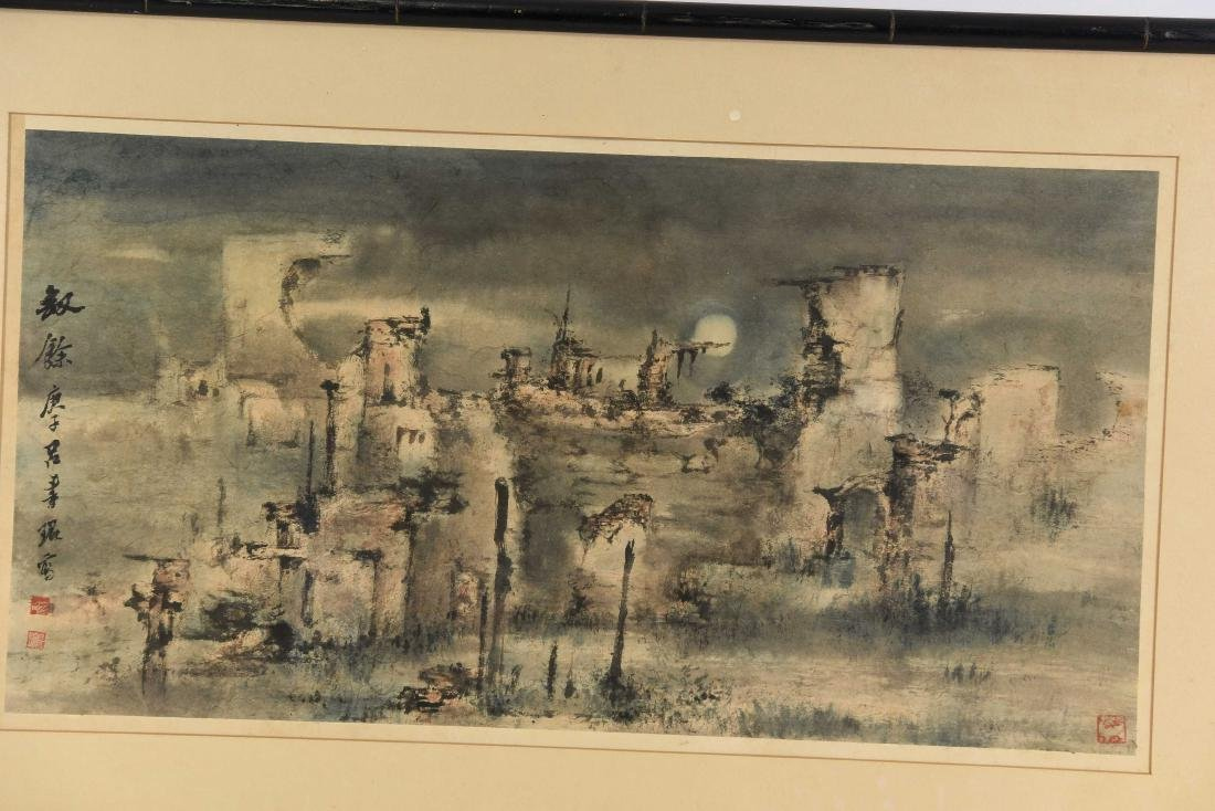JAPANESE MODERNIST ABSTRACT WATERCOLOR - 2