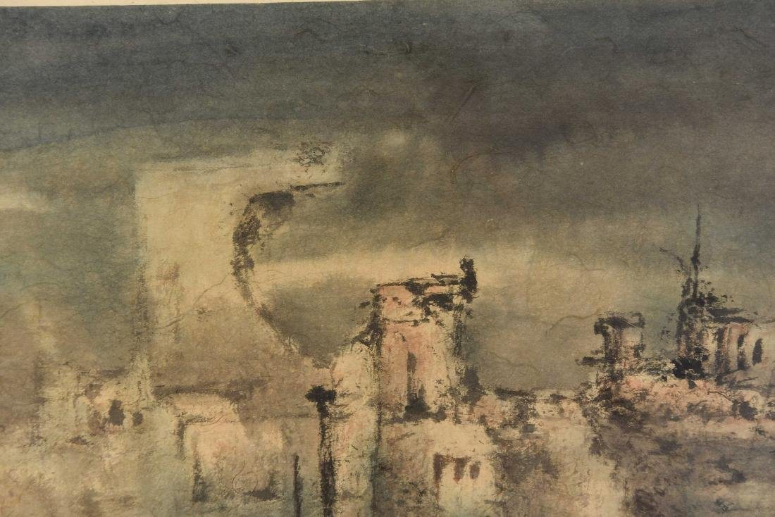 JAPANESE MODERNIST ABSTRACT WATERCOLOR - 5