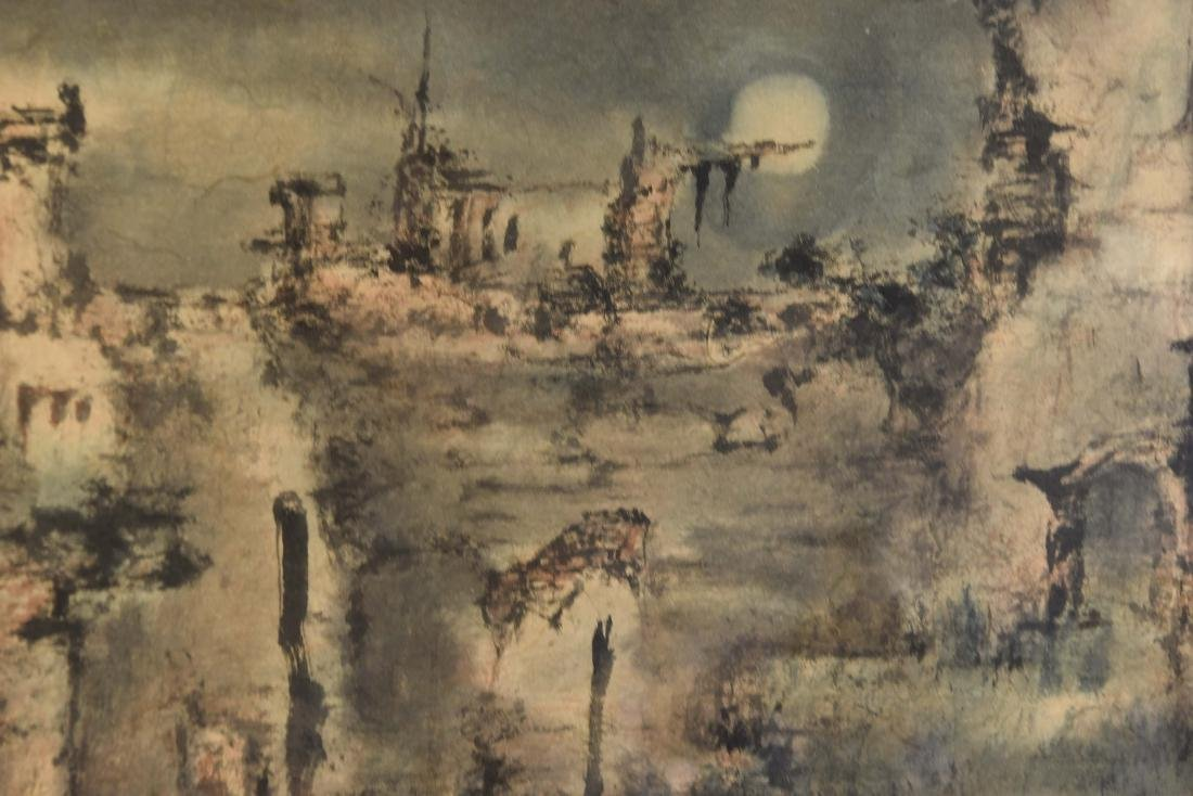 JAPANESE MODERNIST ABSTRACT WATERCOLOR - 6