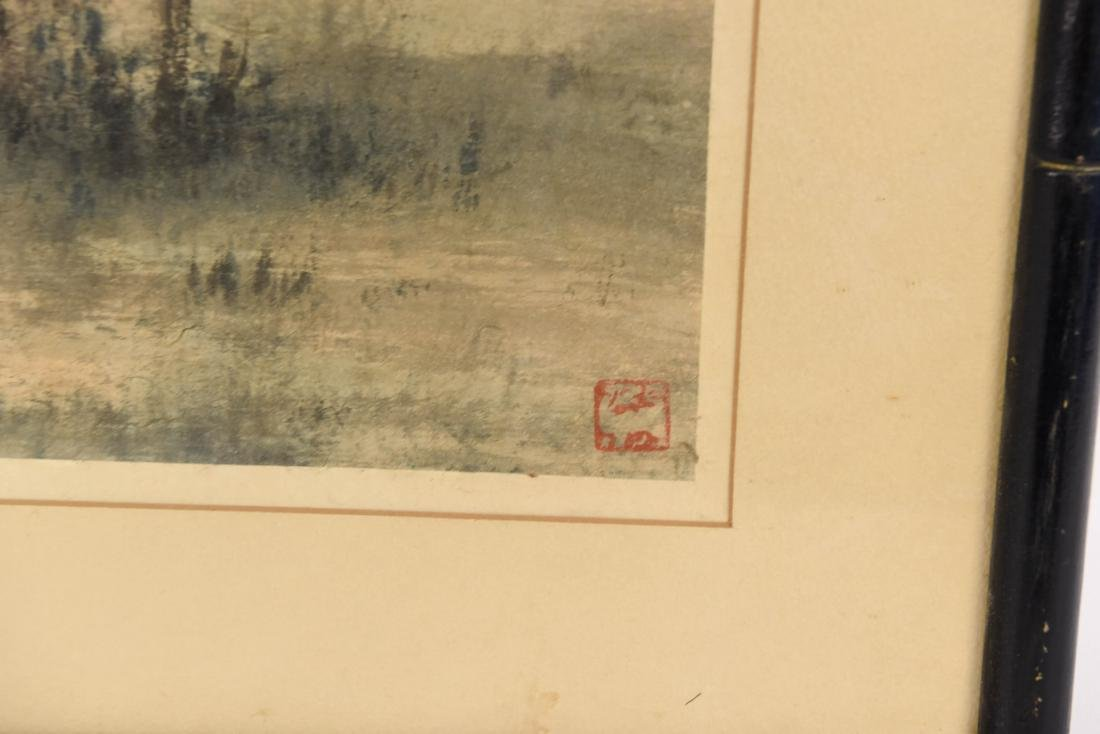 JAPANESE MODERNIST ABSTRACT WATERCOLOR - 8