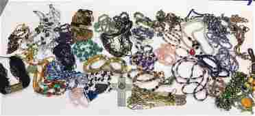 GROUPING OF JEWELRY INCL PEARLS AND STONES