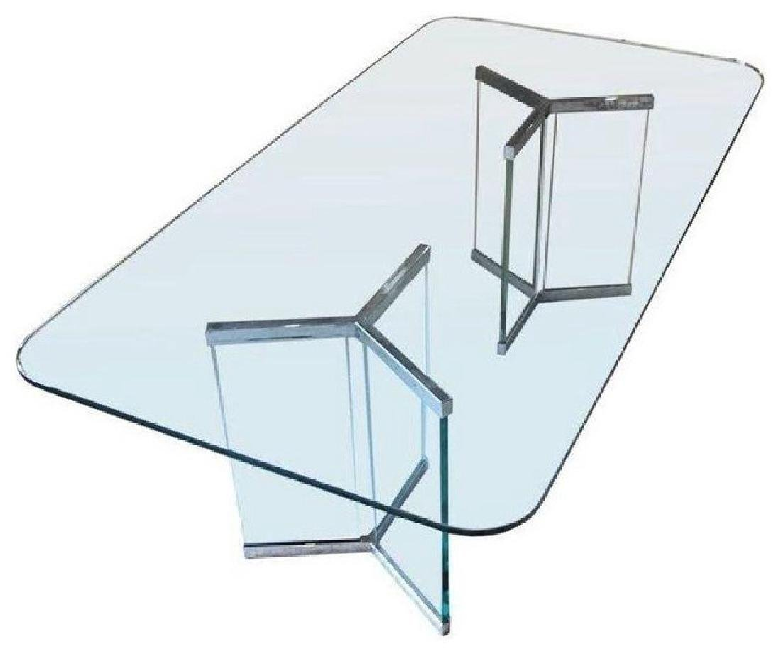 LEON ROSEN FOR PACE GLASS TABLE