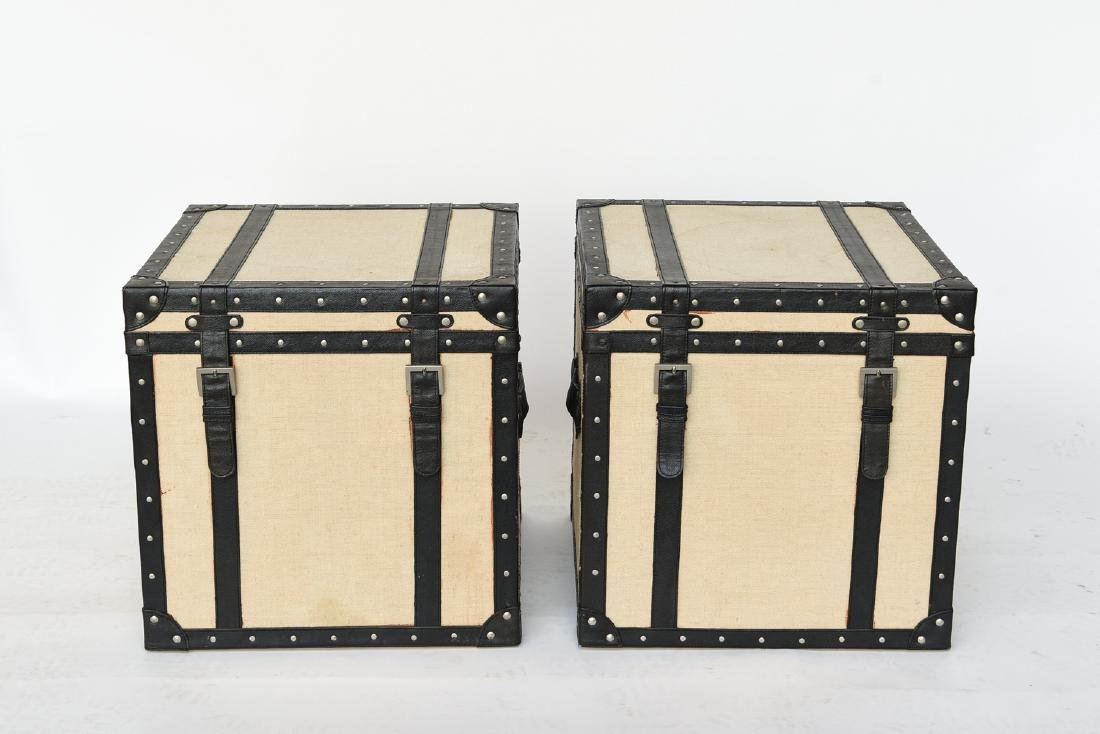 PAIR OF SMALL TRUNK END TABLES