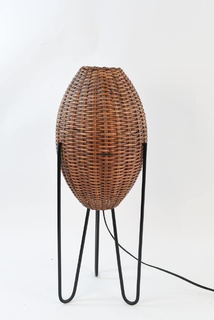 PAUL MAYEN WOVEN WICKER HAIRPIN TRIPOD LAMP