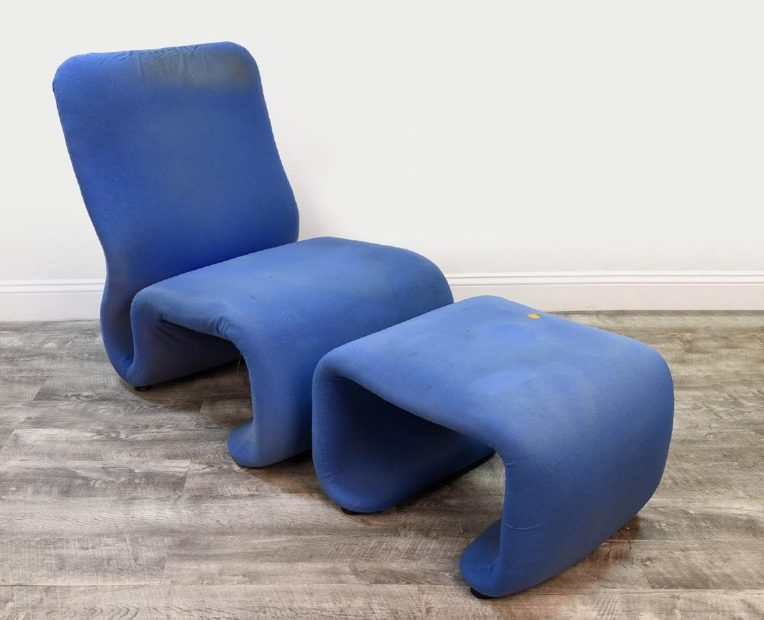 JAN EKSELIUS ETCETERA CHAIR AND OTTOMAN