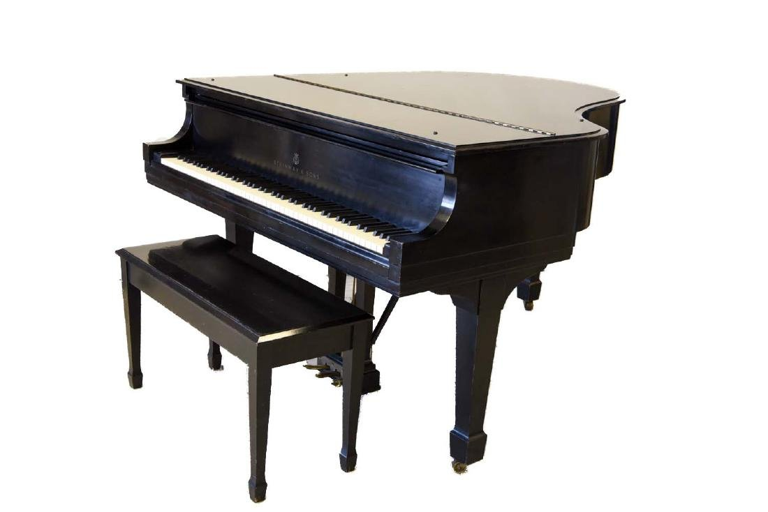 STEINWAY MODEL M EBONY GRAND PIANO