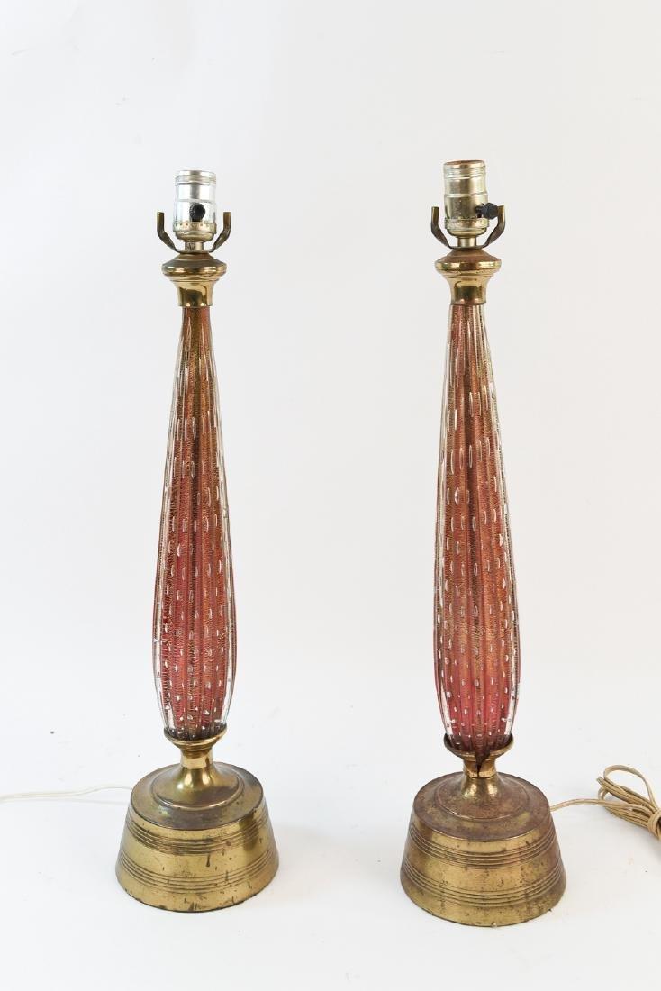 BALBOA MID-CENTURY RIBBED MURANO GLASS LAMPS