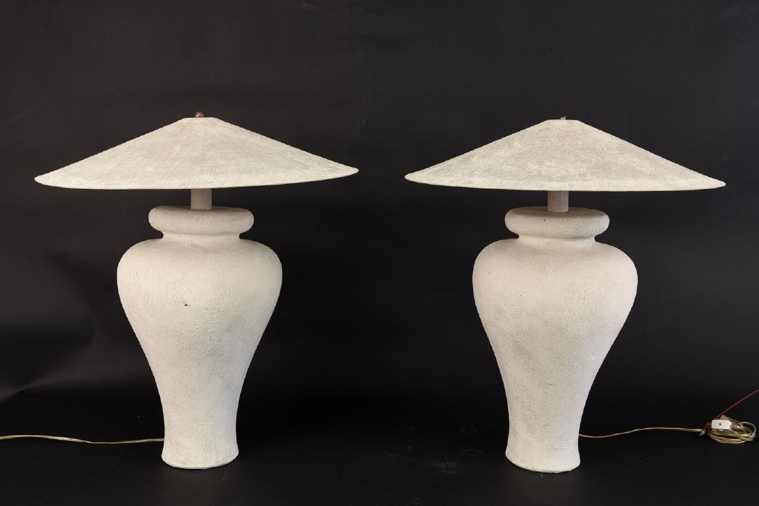 PAIR OF MIAMI STYLE LAMPS