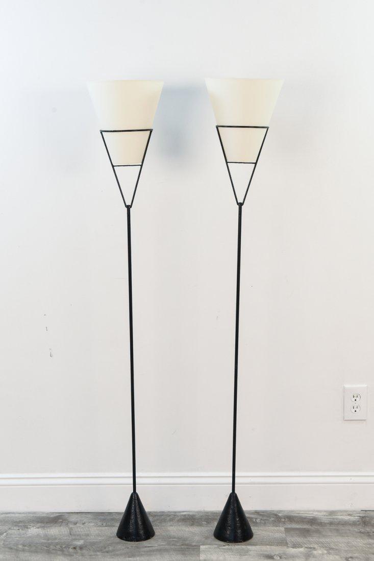 PAIR OF VICE VERSA CARL AUBOCK STYLE FLOOR LAMPS