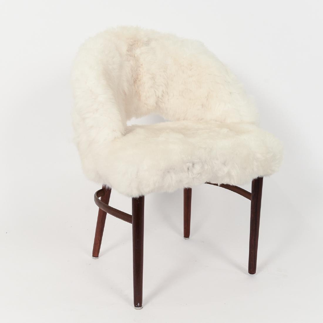 FRODE HOLM DANISH VANITY CHAIR IN LAMB'S WOOL