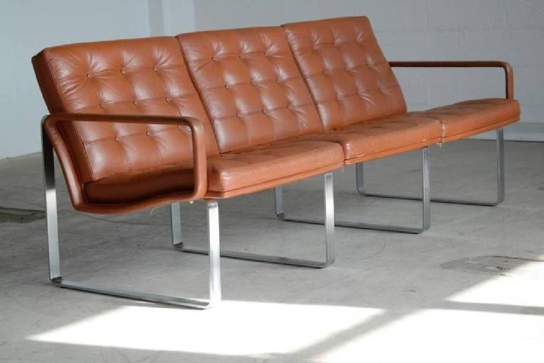 MODULINE LEATHER SOFA GJERLOV KNUDSEN FRANCE & SON
