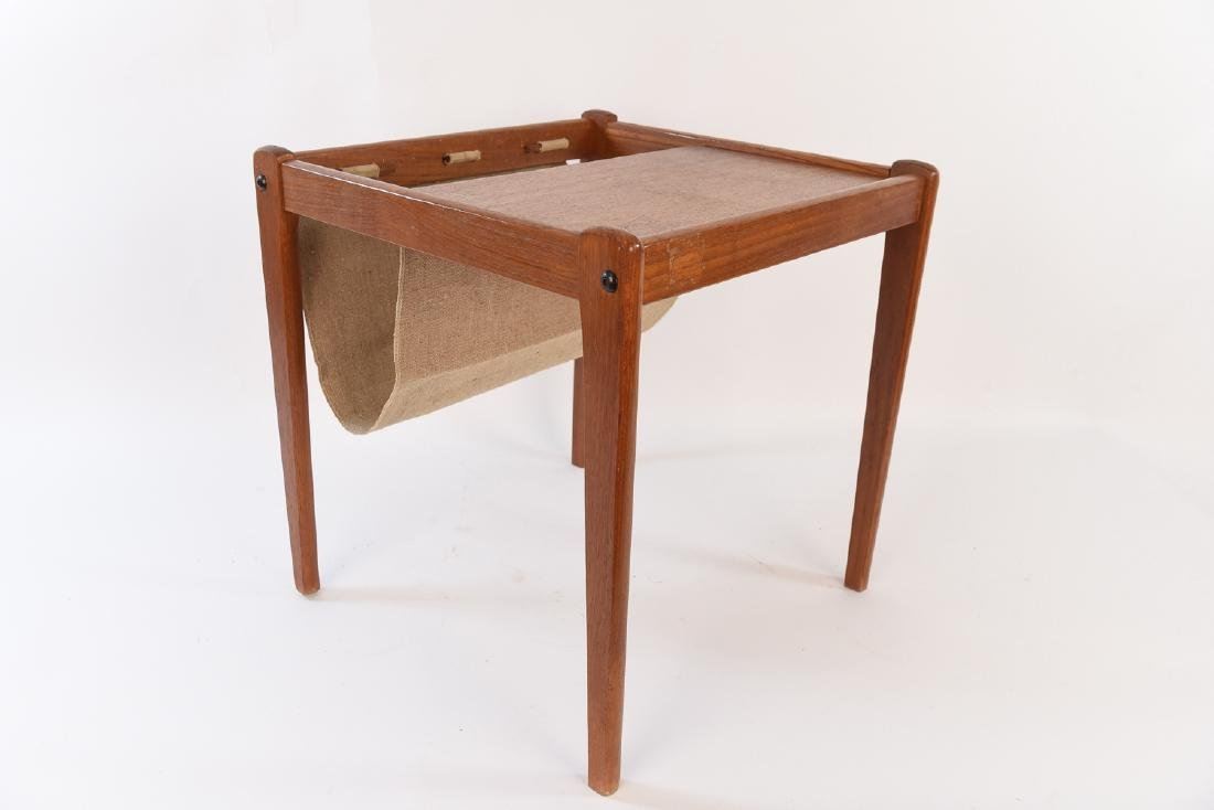 DANISH MID CENTURY TABLE/MAGAZINE RACK