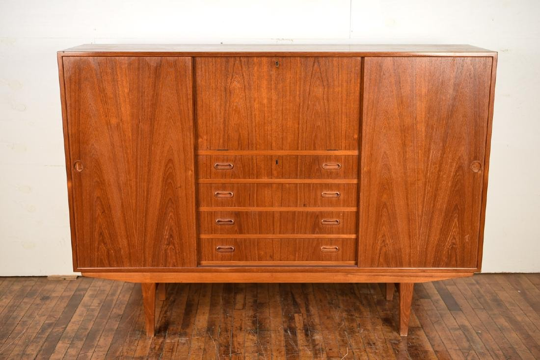 DANISH MID-CENTURY OMANN JR TEAK HIGHBOARD